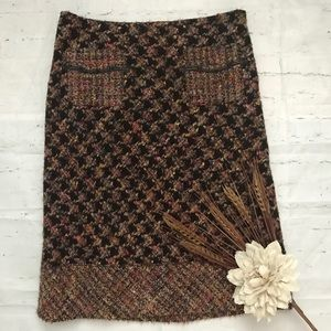 Cynthia Steffe Wool Blend Lined Pencil Skirt 2